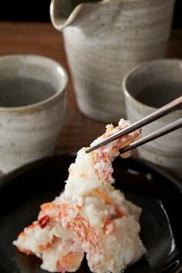 きんきの飯寿司と酒の写真素材 [FYI01796697]