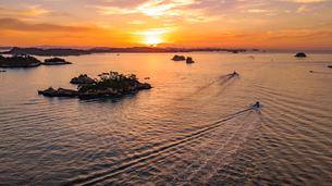 多聞山から地蔵島と松島湾の写真素材 [FYI01796710]