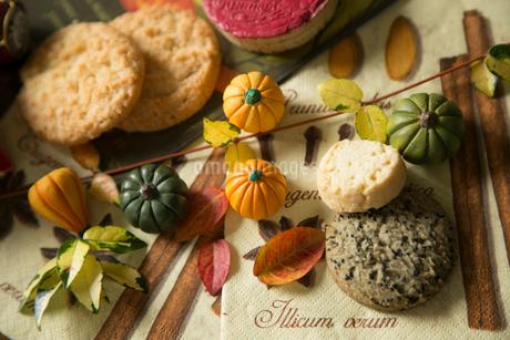 ハロウィーン,カボチャ,クッキーの写真素材 [FYI01797096]