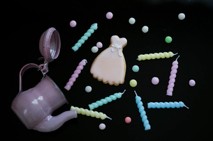 アイシングクッキー,パステルカラー,可愛いの写真素材 [FYI01797400]