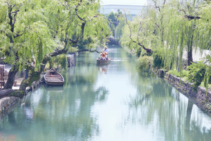 くらしき川舟流しの写真素材 [FYI01797449]