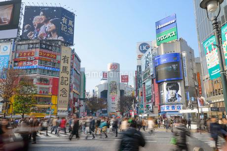 渋谷駅前スクランブル交差点の写真素材 [FYI01797585]