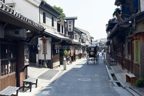 倉敷美観地区の本町通りの写真素材 [FYI01797639]