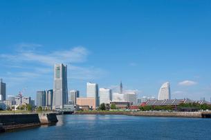 横浜港みなとみらいの風景の写真素材 [FYI01797753]