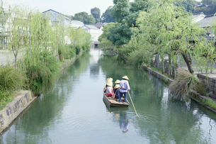 くらしき川舟流しの写真素材 [FYI01797847]