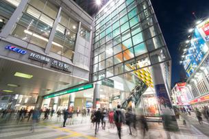 渋谷駅前の夜景の写真素材 [FYI01797874]