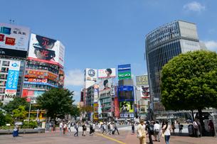 渋谷駅ハチ公前の風景の写真素材 [FYI01798060]