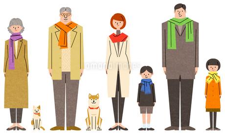 家族のキャラクターセットのイラスト素材 [FYI01798065]