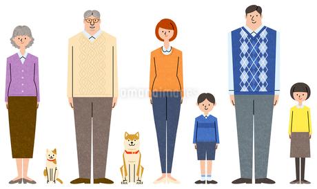 家族のキャラクターセットのイラスト素材 [FYI01798115]