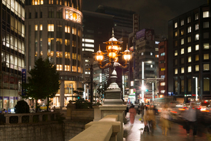 日本橋の夜景の写真素材 [FYI01798165]
