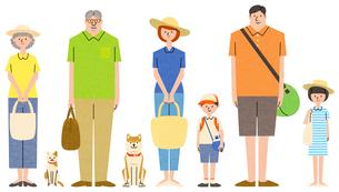 家族のキャラクターセットのイラスト素材 [FYI01798212]