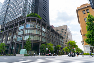 東京駅丸の内の風景の写真素材 [FYI01798228]
