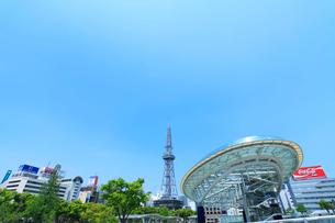 名古屋・オアシス21より名古屋テレビ塔の写真素材 [FYI01798368]