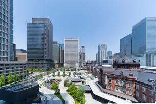 東京駅丸の内口の風景の写真素材 [FYI01798399]