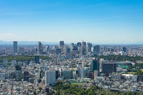 六本木ヒルズより新宿を望むの写真素材 [FYI01798466]