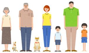 家族のキャラクターセットのイラスト素材 [FYI01798493]