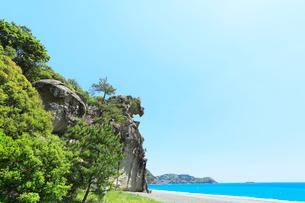 獅子岩と七里御浜の写真素材 [FYI01798569]