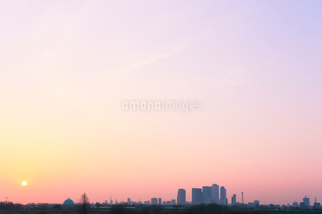 名古屋 朝の街並みの写真素材 [FYI01798608]