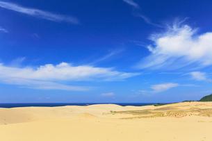 鳥取砂丘と日本海の写真素材 [FYI01798831]