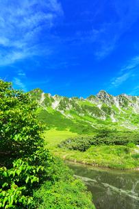 中央アルプス千畳敷カール・剣ヶ池の写真素材 [FYI01798835]
