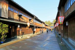 北陸金沢・ひがし茶屋街の写真素材 [FYI01798862]