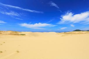 鳥取砂丘と日本海の写真素材 [FYI01798903]