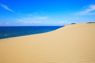鳥取砂丘と日本海の写真素材 [FYI01799006]