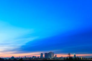 名古屋・夜明けの街並みの写真素材 [FYI01799248]