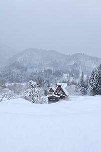 冬の白川郷の写真素材 [FYI01799324]