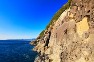 熊野古道 鬼ヶ城より七里御浜方向を望むの写真素材 [FYI01799862]