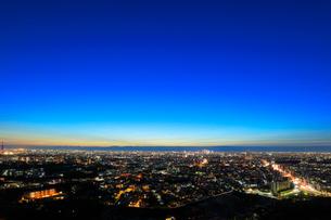 名古屋の街明かり 夜景の写真素材 [FYI01799979]