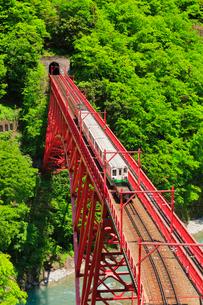 黒部峡谷鉄道・トロッコ電車の写真素材 [FYI01800030]