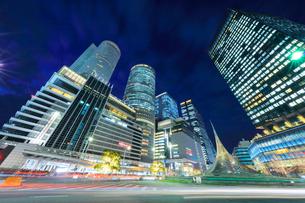 名古屋駅周辺の高層ビル 夜景の写真素材 [FYI01800111]