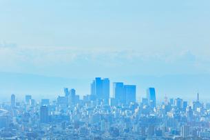 名古屋駅周辺の高層ビルと町並みの写真素材 [FYI01800251]