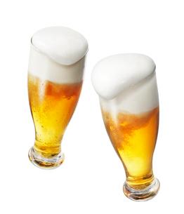 ビール乾杯イメージ,手なしの写真素材 [FYI01800461]