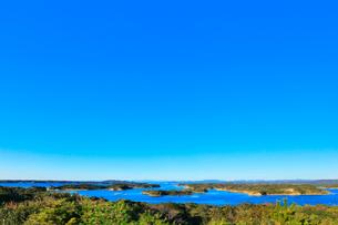 伊勢志摩 桐垣展望台より望む英虞湾の島々の写真素材 [FYI01800593]