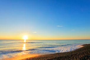 海と朝日の写真素材 [FYI01800628]