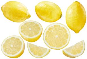 レモン素材白バックの写真素材 [FYI01800747]