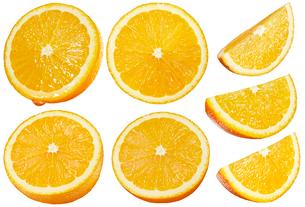 オレンジ素材白バックの写真素材 [FYI01800830]