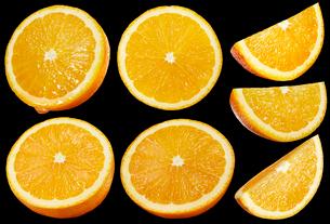 オレンジ素材黒バックの写真素材 [FYI01800923]