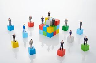 ビジネスモデル構築イメージの写真素材 [FYI01800951]