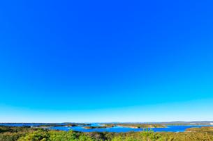 伊勢志摩 桐垣展望台より望む英虞湾の島々の写真素材 [FYI01801154]