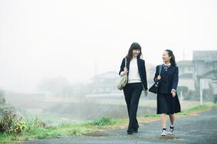 歩く母娘の写真素材 [FYI01801516]