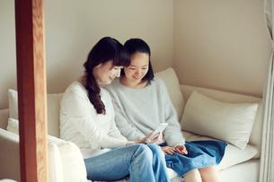 母と娘の写真素材 [FYI01801585]