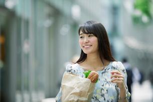 買い物をする女性の写真素材 [FYI01801778]