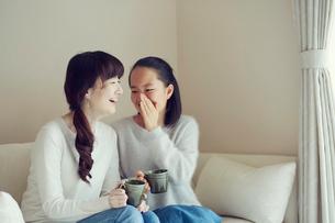 母と娘の写真素材 [FYI01801975]