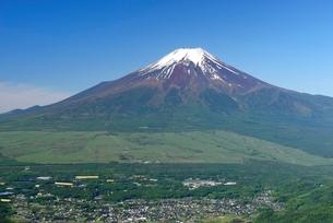 杓子山より望む初夏の富士山の写真素材 [FYI01803392]