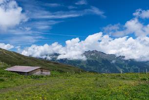 ベルナーアルプス 山小屋の写真素材 [FYI01804220]
