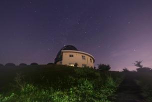 堂平天文台 星景の写真素材 [FYI01804328]