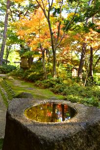松雲山荘紅葉の印象の写真素材 [FYI01804736]